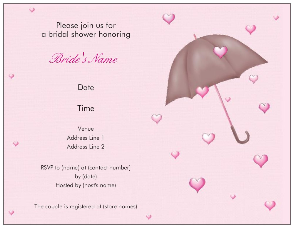 Vista Print Bridal Shower Invitations and get inspiration to create nice invitation ideas