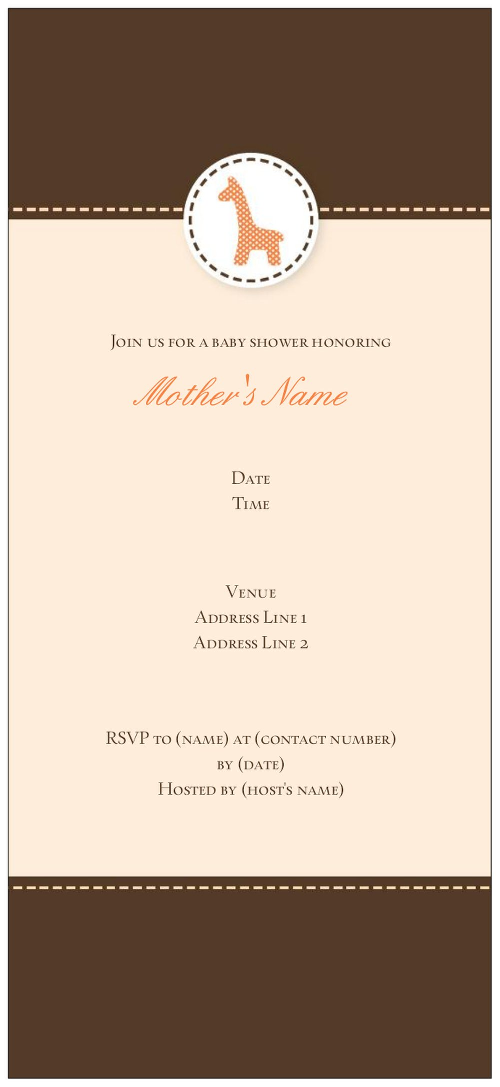 Vistaprint Baby Shower Invitations could be nice ideas for your invitation template