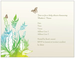 Butterfly wedding invitations - Baby Shower
