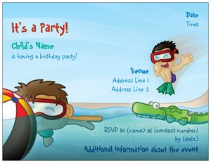 pool party invitations - Generic Style Design