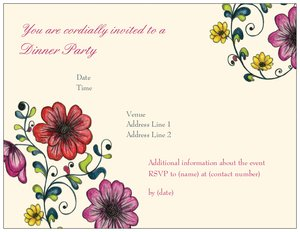 bridesmaids luncheon invitations - Floral