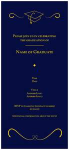 Golden wedding invitations - Graduation