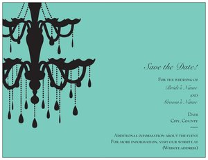 Wedding evening invitations - Save the Date