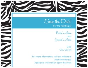 zebra invitations - Save the Date