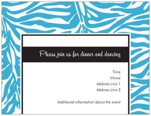 zebra print invitations -