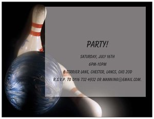 bowling invitations - Generic Style Design