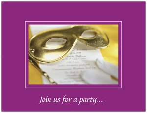 masquerade ball invitations - Mardi Gras