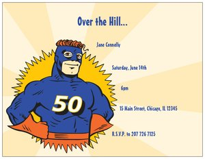 superhero birthday invitations - Milestone Birthday