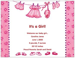 baby shower girl invitations - Birth Announcements