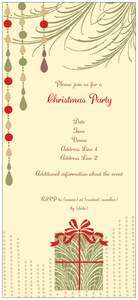holiday party invitations - Christmas