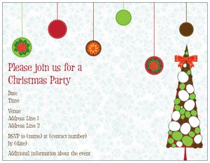christmas invitation - Holiday