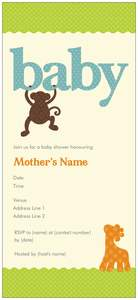 monkey baby shower invitations - Baby Shower