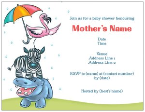 zebra invitations - Baby Shower