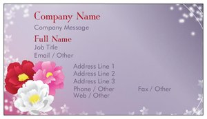 cute business cards - Floral