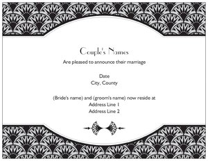 art deco wedding invitations - Announcements