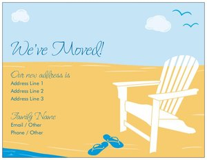 Beach wedding invitation - Moving Announcements