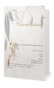 Golden wedding invitations - Milestone Birthday