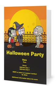 costume party invitations - Halloween