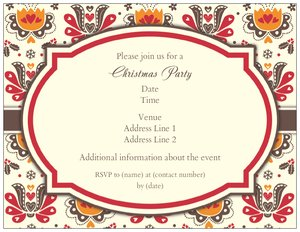 fall party invitations - Holiday