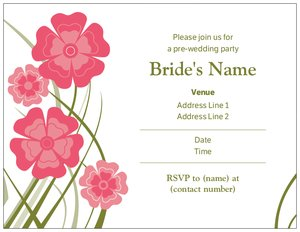 bridesmaids luncheon invitations - Styles & Themes