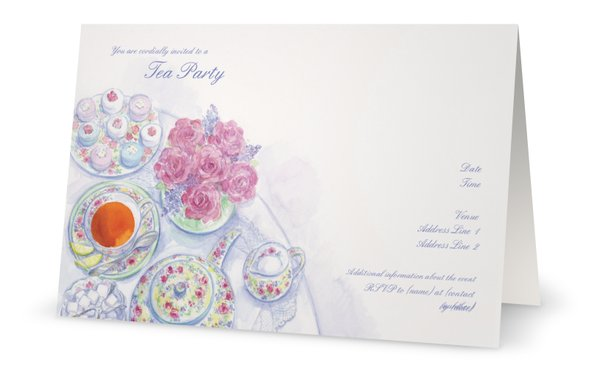 tea party baby shower invitations theme parties