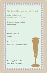 Golden wedding invitations -