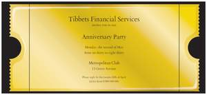 Golden wedding invitations - Anniversary