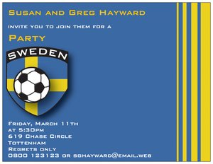 football birthday invitations -