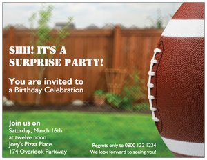 football birthday invitations - Styles & Themes