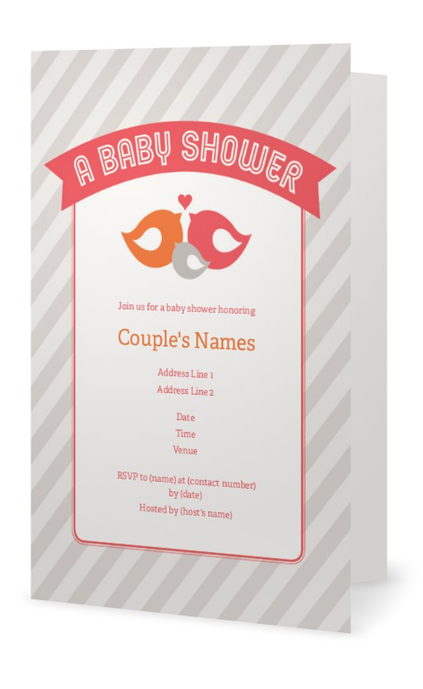 couples baby shower invitations baby shower
