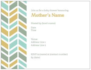chevron baby shower invitations - Baby Shower