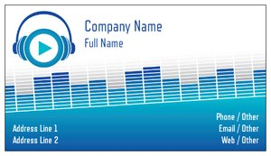 dj business cards - Event Planning & Entertainment