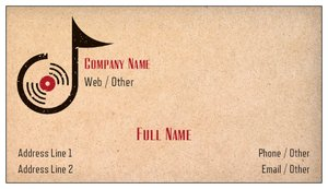 dj business cards - Music